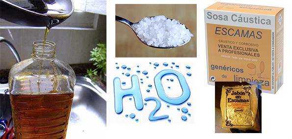 Jabón líquido para lavadora con aceite reciclado